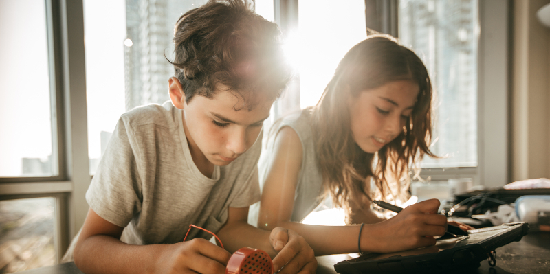 Children Studying Image